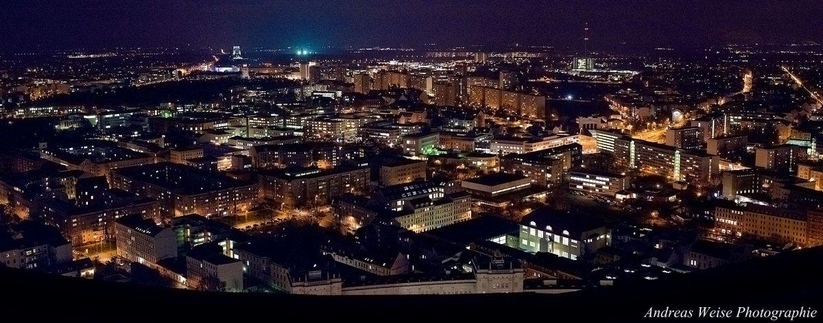 Leipzig vom Uniriesen gesehen