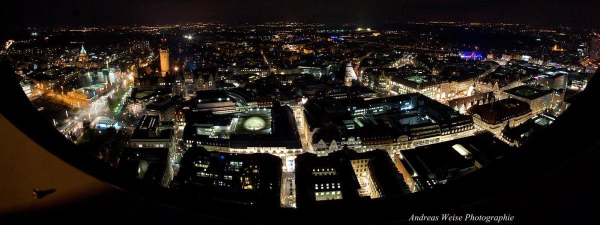 Leipzig vom Uniriesen - Blick in die Innenstadt