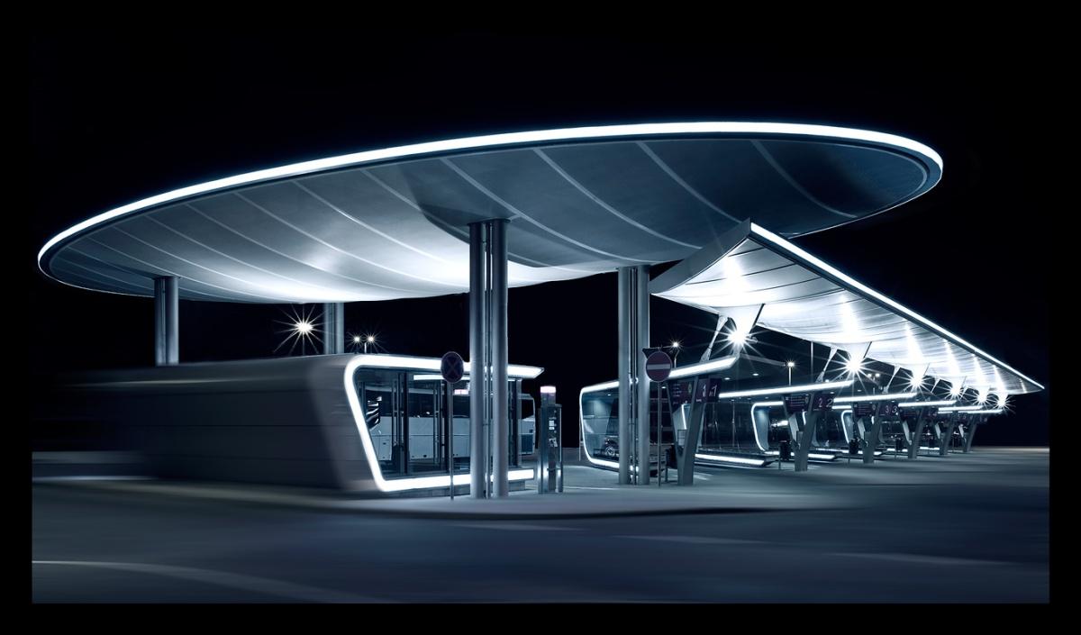 Busbahnhof Halle , bearbeitet