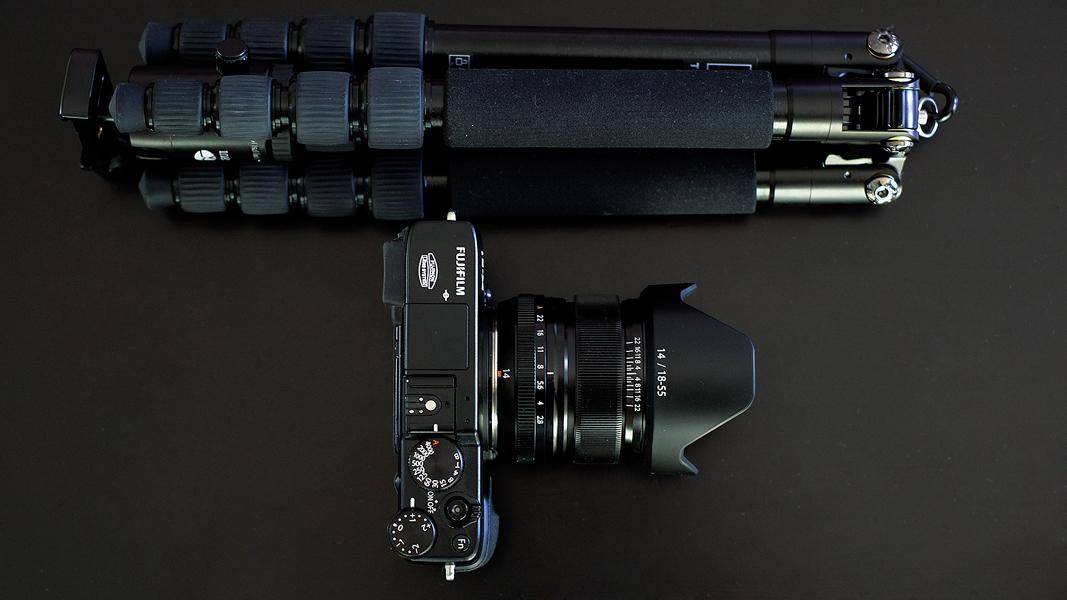 Fuji XE 1 + Sirui T--005 X