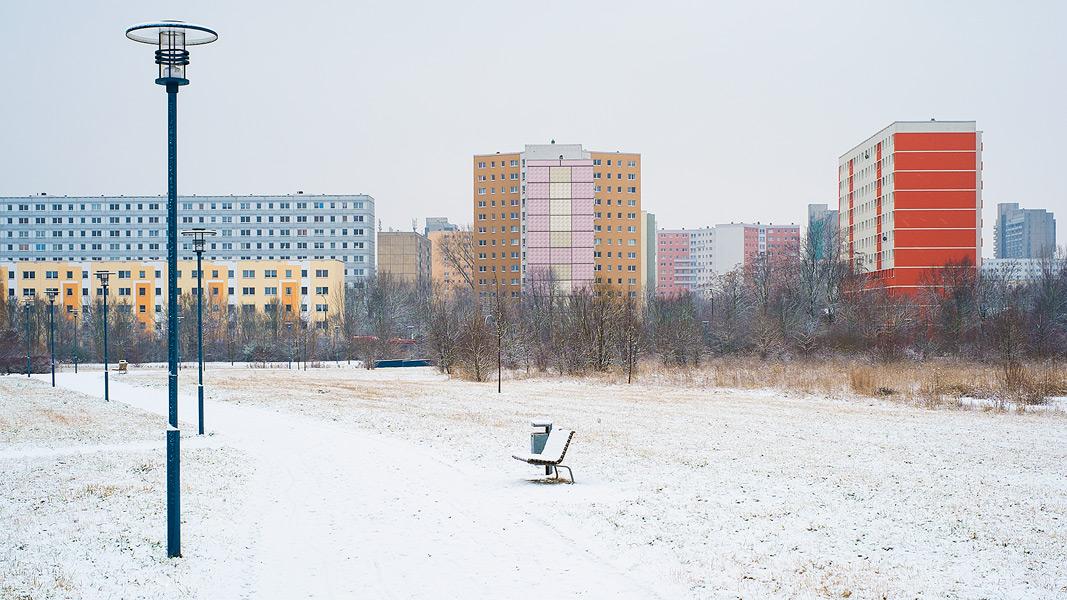 Blick von Heide Süd nach Halle Neustadt