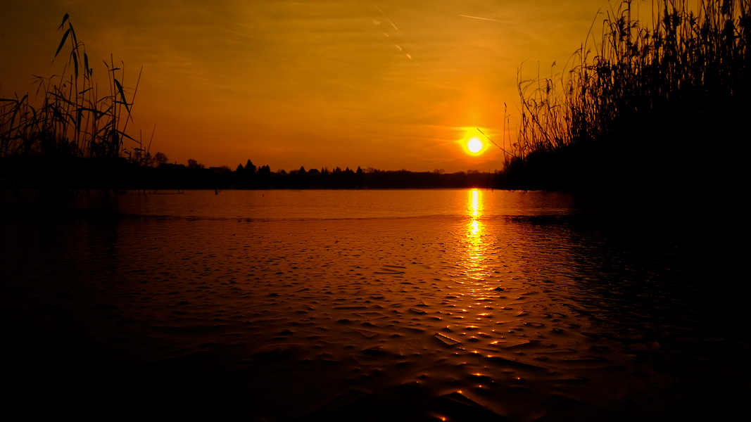 Sonnenuntergang Heidesee