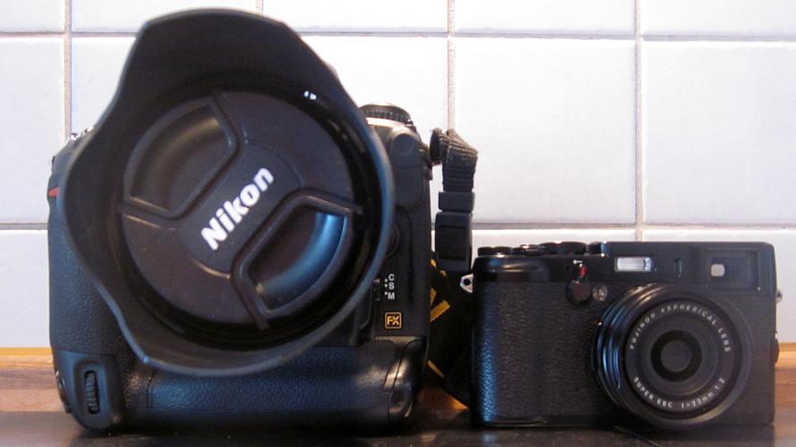 Nikon D3 gegen Fuji X100