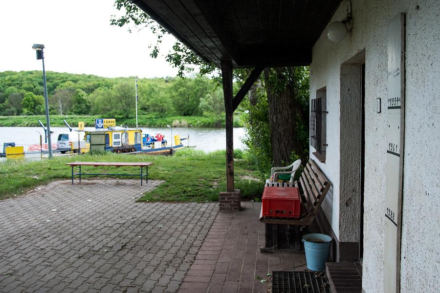 Blick vom Fährhaus zur Saale