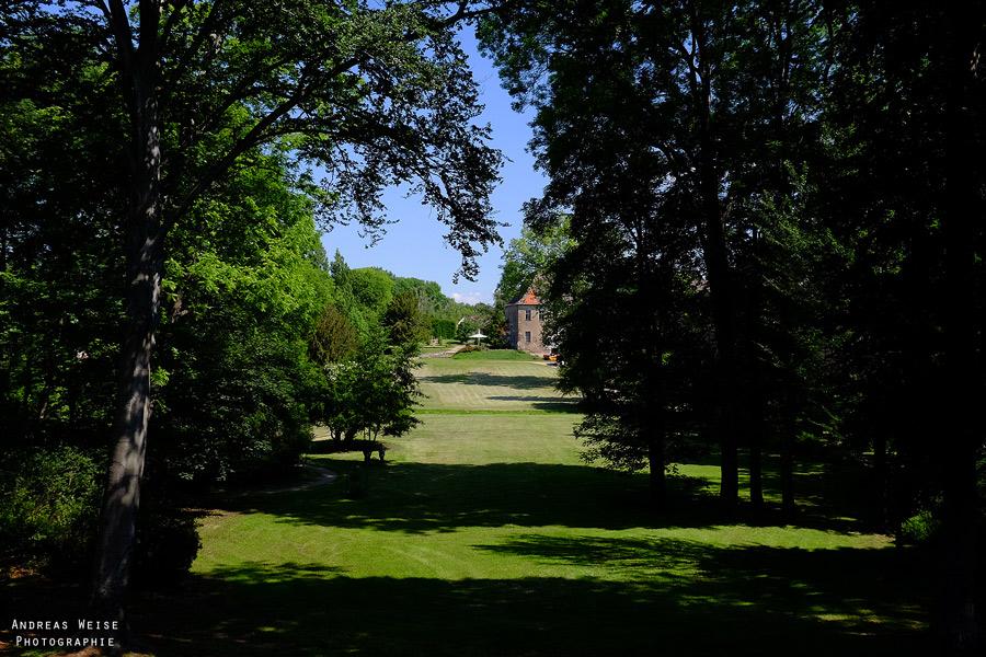 Blick in den Schloßpark Dieskau