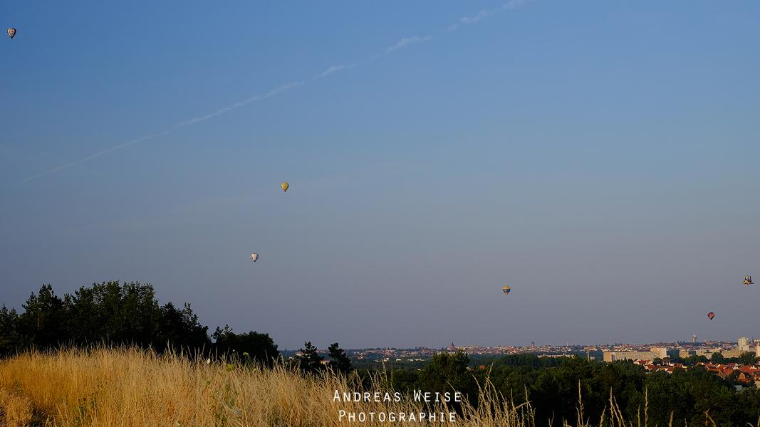 Ballon Fiesta 2014 - Blick vom Granauer Berg auf Halle