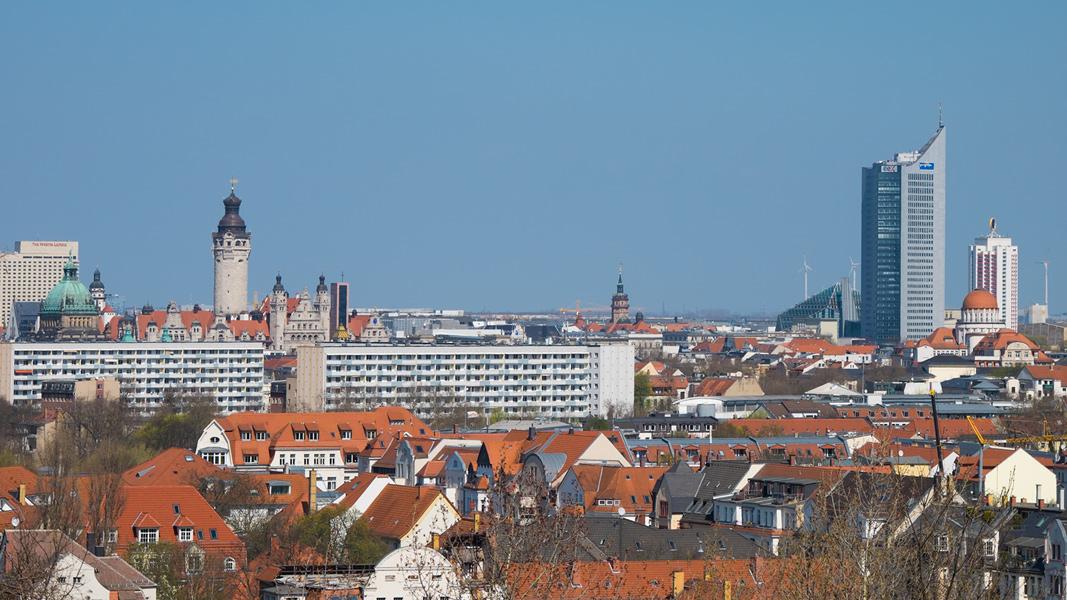Blick vom Fockeberg auf LE