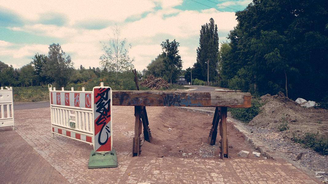 Ende des Weges am Holzplatz